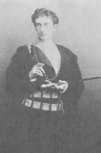 Johnston Forbes Robertson as Hamlet, Lyceum Theatre, London, 1897.