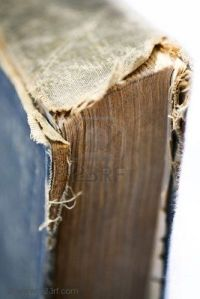 worn out book